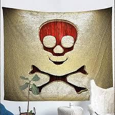 Erosebridal Skull Tapestry <b>Halloween</b> Wall Hangings <b>Gothic</b> ...