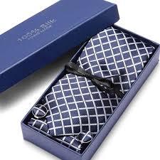 "Woven <b>Classic</b> Men Tie Necktie T <b>Navy Blue</b> Plaid 3""100% Silk Tie ..."