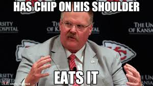 Three funniest / meanest memes for Kansas City Chiefs coach Andy ... via Relatably.com