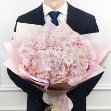 <b>Букет</b> из <b>5 розовых гортензий</b>, Артикул: А925619 - 9380 RUB ...