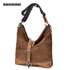 Hot Sale Vintage Women Handbag <b>Canvas</b> Leather Ladies ...