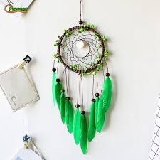 Handmade Purple/Green Bead <b>Dream Catcher</b> Wind Chimes <b>Indian</b> ...