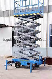 18m Wholesale <b>Hydraulic</b> Trailing Mobile Scissor Lift / <b>Manual</b> ...