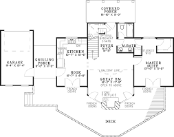 Glorious Vacation House Plan   ND   st Floor Master Suite    Floor Plan