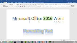 text formatting in microsoft office word  text formatting in microsoft office word 2016