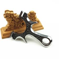 <b>Slingshot Powerful Catapult</b> for Hunting <b>Stainless steel</b> with flat ...