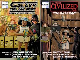 cover art for sequart s trio of upcoming star wars essay books exploring the star wars expanded universe takes a look at novels games comics and all sorts of other tie in products that serve to expand and enhance