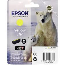 Оригинальный <b>картридж Epson</b> T2614 (желтый) Желтый (Yellow ...