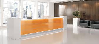 glossy reception desks with led light modern office reception desk