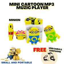 MINION Mini <b>Creative Cartoon Cute</b> MP3 Player Loop Playback ...