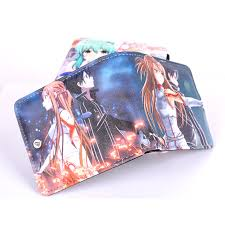 Anime Sword Art Online Cosplay <b>PU Leather Wallet</b> Bifold Purse ...