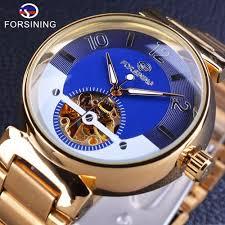 <b>Forsining Blue Ocean</b> Middle East Luxury <b>Design</b> Golden Mens ...
