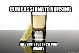Compassionate Nursing free shots for those who qualify ... via Relatably.com