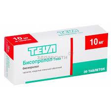 <b>Бисопролол</b>-<b>Тева</b> таблетки п.п.о. <b>10мг 30</b> шт. купить по низким ...
