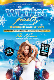 winter party flyer template by louistwelve design on winter party flyer template by louistwelve design