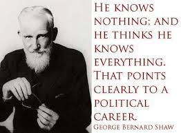 George Bernard Shaw Quote On Politics - Inspirational Picture Quotes via Relatably.com