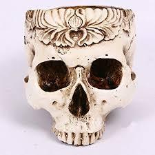 Berry President <b>Halloween Scene Decoration Skull</b> Head Flower ...