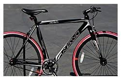 Navi FX A <b>Aluminum Alloy</b> Matte Black Red fixie fixed gear road <b>bike</b> ...