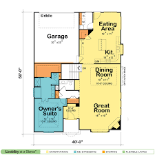 One Story House Plans   Open Floor Plans   Design Basics    New One Story Floor Plans