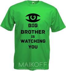 Мужская <b>футболка Big brother</b> is watching you с принтом - купить в ...