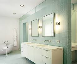 led bathroom lighting vanity with two framed mirrors above double sink bathrom vanity and green bathroom lighting ideas double vanity modern