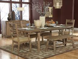 Kitchen Table With Benches Set Bench Style Dining Table Sets Dining Room