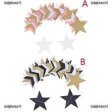 2.5M Gold <b>Glitter Paper</b> Garland Star Shape String <b>Banners Colorful</b> ...