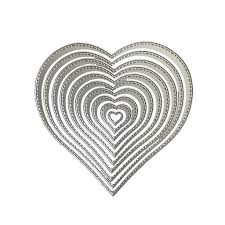 Heart Shape <b>DIY</b> Cutting Dies <b>Carbon Steel</b> Die for Scrapbooking ...