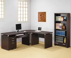 living room black l shaped modern home office desk with drawers and locker for storage idea black shaped office desks