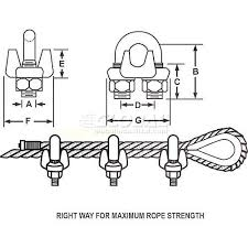 "Elite <b>Sales</b> DFC14 1/4"" <b>Drop</b> Forged Wire Rope Clip - Pack of 50"
