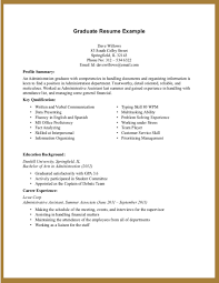 resume no experience college sample resume  college