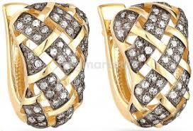 <b>Серьги</b> из желтого золота с бриллиантами купить в Ставрополе ...