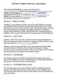 florida commercial lease agreement pdf word doc long form adobe pdf microsoft word