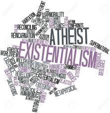 abstract word cloud for atheist existentialism related tags abstract word cloud for atheist existentialism related tags and terms stock photo 17197733