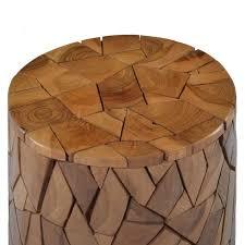 Shop vidaXL Mosaic <b>Stool Brown Solid Teak</b> Wood - Overstock ...