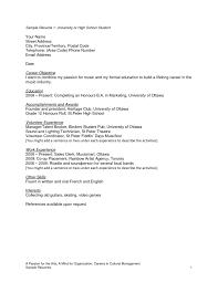 resume  resume objective high school student  moresume coresume