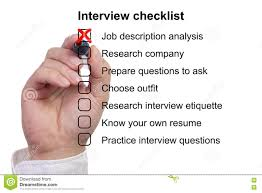 preparation checklist for a job interview stock photo image preparation checklist for a job interview