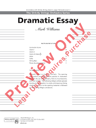 dramatic essay dramatic essay nd violin dramatic essay st violin digital sheet music for string orchestra dramatic essay complete set of parts