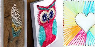 wall art idea creative project diy string art ideas for teens girls and boys room wall art ideas