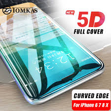 TOMKAS <b>6D Curved Edge</b> Glass For iPhone 6 6S Screen <b>Protector</b> ...