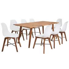 vidaXL <b>Nine Piece Solid Acacia</b> Wooden Dining Set Sale, Price ...