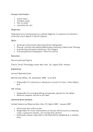 dental assistant resume sample certified dental  seangarrette co   entry level dental assistant resume   dental assistant resume