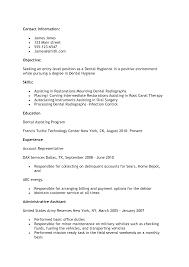 of resume dental assistant  seangarrette co   entry level dental assistant resume