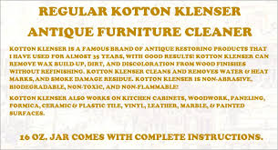 16 ounce regular kotton klenser for cleaning and restoring wood finishes antique furniture cleaner