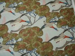 decor linen fabric multiuse:  mulberry flying ducks linen multipurpose print fabric sky b o feb