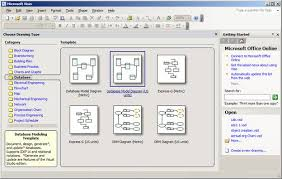 using visio to create er diagrams