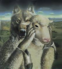 Image result for wolf in sheep's clothing illustration