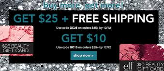 e.l.f. Cosmetics FREE $25 Gift Card with $35 Purchase + FREE ...