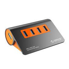 <b>Orico 4</b>-Port USB3.1 Gen2 Hub - Orange - <b>M3H4</b>-<b>G2</b>-AU-<b>OG</b> - Mwave