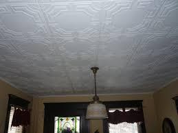 sagging tin ceiling tiles bathroom: pretty antique white matte faux tin ceiling tiles pus pendant lamp for ceiling decoration ideas